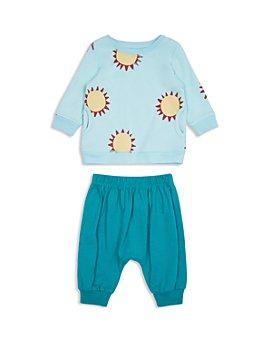Peek Kids - Unisex Charley Cotton Sunshine Print Top & Solid Pants Set - Baby