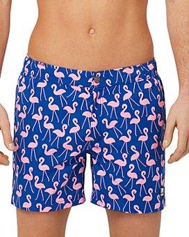 TOM & TEDDY - Flamingo Print Swim Trunks