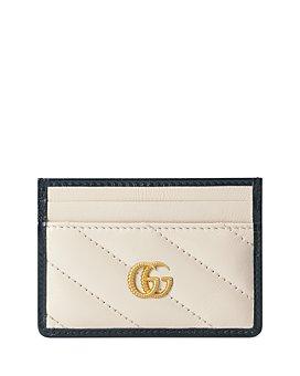 Gucci - GG Marmont Matelassé Leather White Card Case