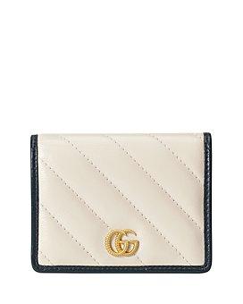 Gucci - GG Marmont Matelassé Leather White Card Case Wallet