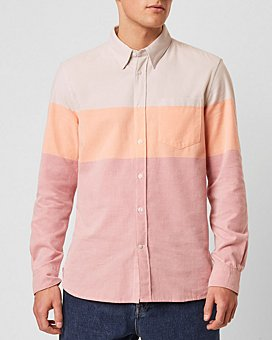 FRENCH CONNECTION - Colorblocked Oxford Shirt