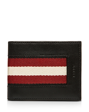 Bally Bevye Stripe Leather Wallet-Men