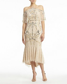 Aidan Mattox - Sequined Off-the-Shoulder Dress