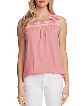 VINCE CAMUTO - Sleeveless Embroidered Top