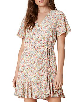 BB DAKOTA - Flower On Printed Wrap Dress