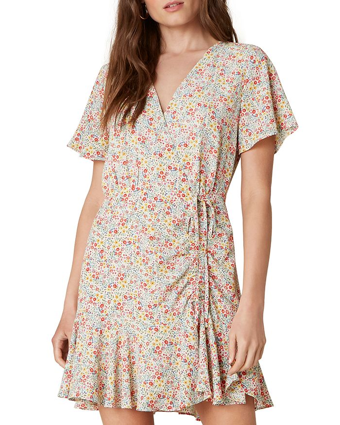 BB DAKOTA - Flower On Printed Wrap Dress