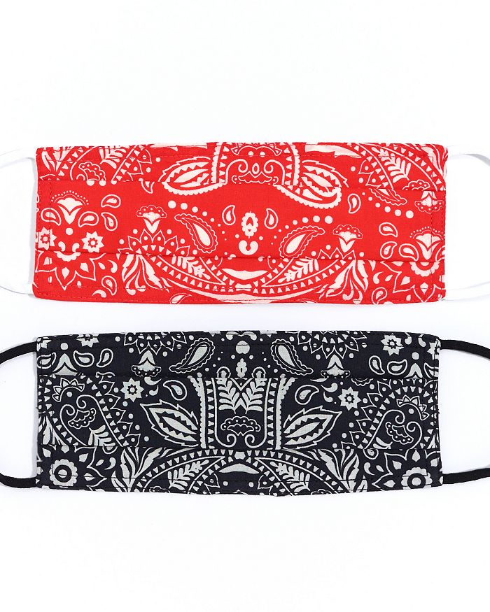 Echo - Bandana Print Face Masks, Set of 2