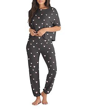 Honeydew - Mommy & Me Heart Print Short Sleeve & Pants Pajama Set