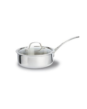 Calphalon - Calphalon Tri-Ply Stainless 2.5 Quart Shallow Covered Sauce