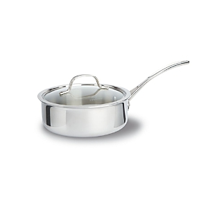 Calphalon Tri-Ply Stainless 2.5 Quart Shallow Covered Saucepan