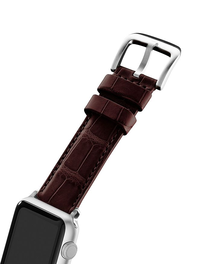 Shinola - Alligator Embossed Leather Strap for Apple Watch®, 24mm