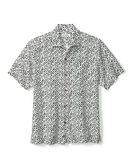 Tommy Bahama - Ecovera™ Geo Print Classic Fit Button Down Camp Shirt