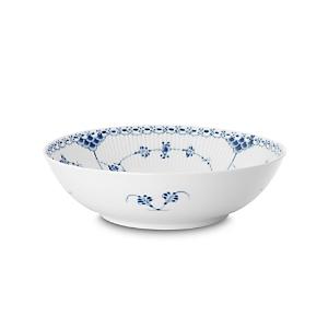 Royal Copenhagen Blue Fluted Half Lace Round Open Bowl