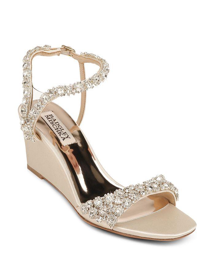 Badgley Mischka - Women's Gali Embellished Wedge Sandals