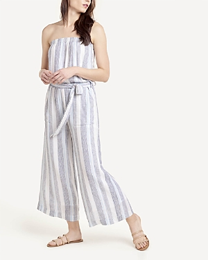 Splendid STRIPED STRAPLESS WIDE LEG JUMPSUIT