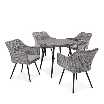 Modway - Endeavor 5 Piece Outdoor Patio Wicker Rattan Dining Set