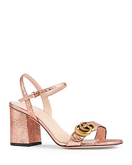 Gucci - Women's Marmont Metallic Leather Open Toe Sandals