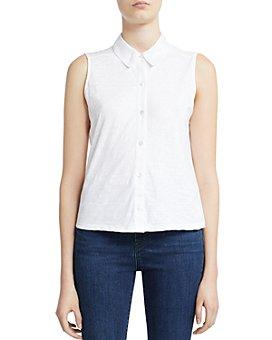 Theory - Cotton Sleeveless Shirt