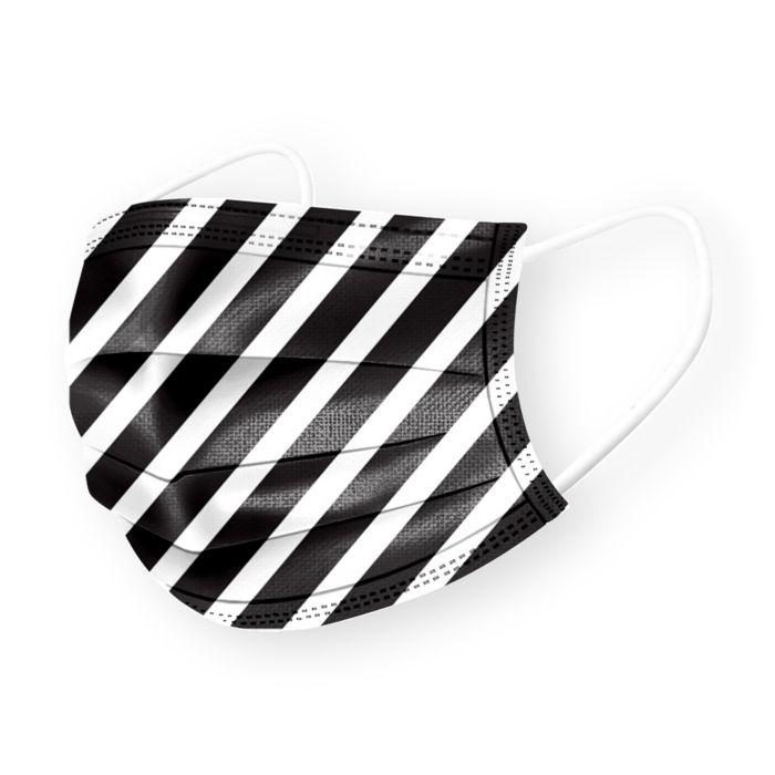 Medipop Disposable Stripe Print Face Masks, Set of 5    Bloomingdale's