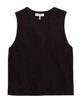 rag & bone - The Knit Rib Cropped Tank Top