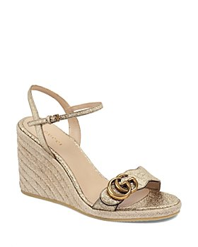 Gucci - Women's Aitana Wedge Espadrille Sandals with Double G