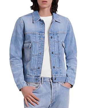Sandro Adam Vintage Blue Denim Jacket-Men