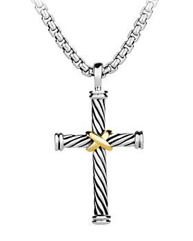 David Yurman - Cable Cross with 18K Gold