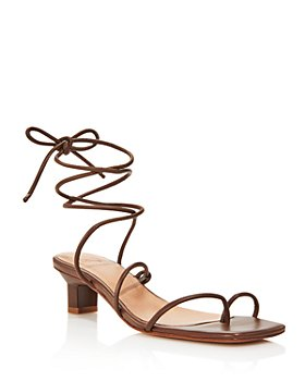 LoQ - Women's Roma Strappy Thong Heeled Sandals