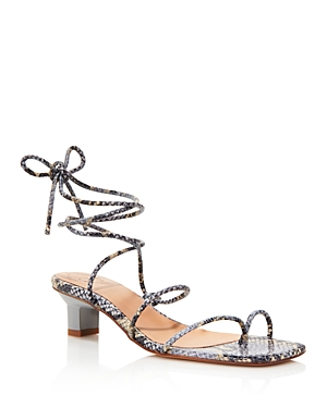 Loq LOQ WOMEN'S ROMA STRAPPY THONG HEELED SANDALS
