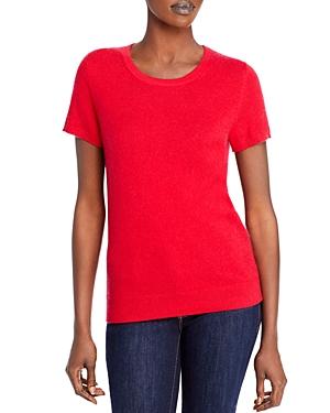 Short-Sleeve Cashmere Sweater