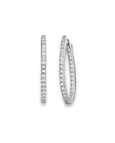 Inside Out Diamond Hoop Earrings in 14 Kt. White Gold, 0.50 ct. t.w. - 100% Exclusive - Bloomingdale's_0