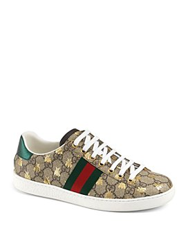 Gucci - Women's Ace GG Supreme Bee Sneakers