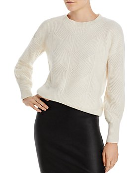 C by Bloomingdale's - Pointelle Cashmere Sweater - 100% Exclusive