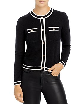 C by Bloomingdale's - Contrast Trim Cashmere Cardigan - 100% Exclusive