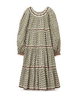 Tory Burch - Printed Puffed Sleeve Midi Dress