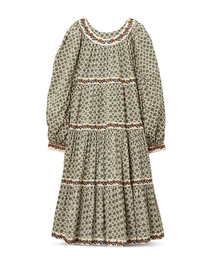 Tory Burch - Printed Puffed Sleeve Midi Dress
