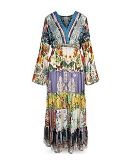 Johnny Was - Dunas Printed Silk Maxi Dress