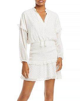 AQUA - Polka Dot Ruffled Mini Dress - 100% Exclusive