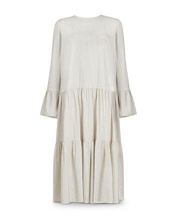 ALLSAINTS - Lori Striped Tiered Dress