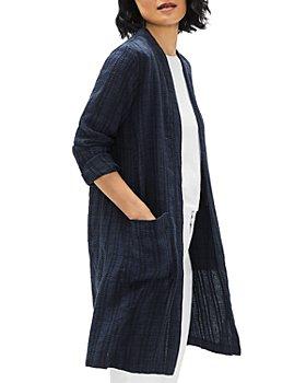 Eileen Fisher - Long Linen Blend Jacket