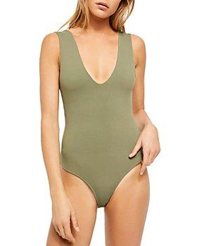 Free People - Keep It Sleek Sleeveless Bodysuit