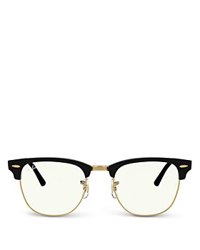 Ray-Ban - Unisex Square Blue Light Glasses, 49mm