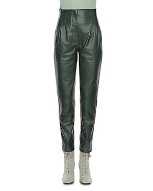 Alberta Ferretti Leather High Rise Pants-Women