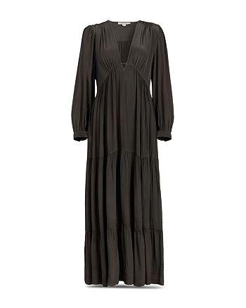 ALLSAINTS - Lea Deep V Tiered Dress