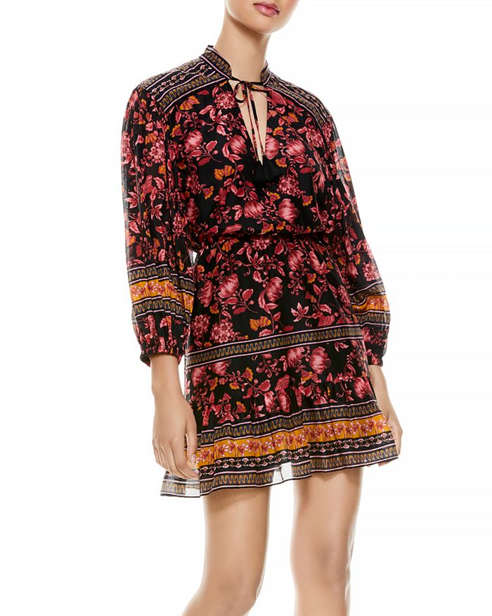 Alice and Olivia - Sedona Printed Tie Neck Dress
