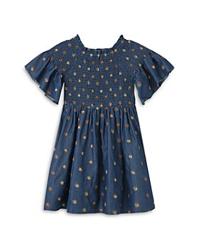 Habitual Kids - Girls' Marlowe Smocked Floral Embroidery Dress - Little Kid