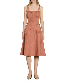 Sandro - Diamon Studded Midi Dress