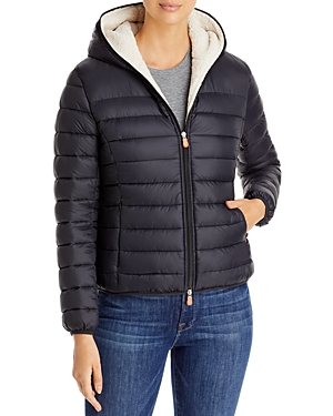 Save The Duck Short Hooded Sherpa-Women