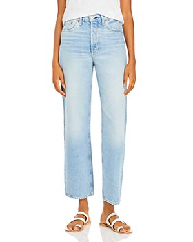 rag & bone - Ruth Super High Rise Straight Leg Jeans in Dagger
