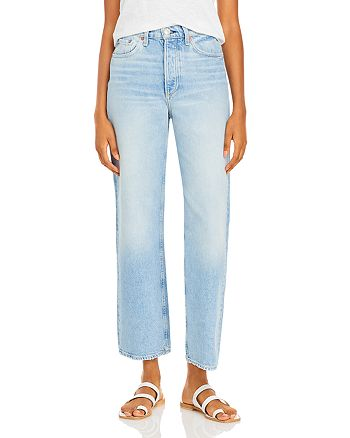 rag & bone - Ruth Super High Rise Straight Leg Jeans in Dagger